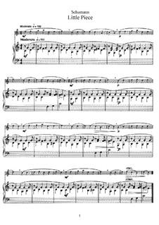 No.5 Stückchen (Little Piece): para flauta e piano - partitura, parte by Robert Schumann