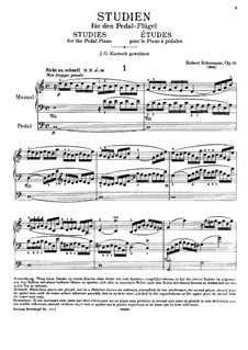 Studies in the Form of Canons, Op.56: set completo by Robert Schumann