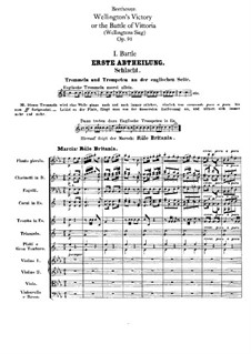 Wellington's Victory, or the Battle of Vitoria, Op.91: Partitura completa by Ludwig van Beethoven