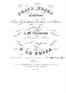 Three Trios for Violin, Cello and Guitar, Op.18: Trio No.3 in F Major by François de Fossa