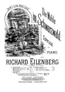 The Mill in the Black Forest, Op.52: Para Piano by Richard Eilenberg