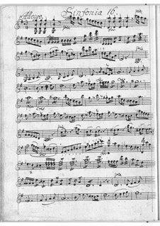 Sinfonia in G Major for Strings: Sinfonia in G Major for Strings by Antonio Filtz