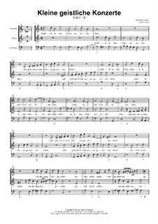 Kleine geistliche Konzerte, Op.8: Nr.10 Schaffe in mir, Gott, ein reines Herz, SWV 291 by Heinrich Schütz