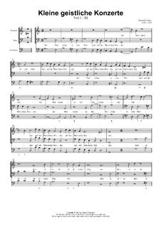 Kleine geistliche Konzerte, Op.8: Nr.11 Der Herr schauet vom Himmel, SWV 292 by Heinrich Schütz