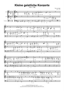 Kleine geistliche Konzerte, Op.8: Nr.12 Lobet den Herren, der zu Zion wohnet, SWV 293 by Heinrich Schütz