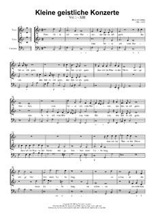 Kleine geistliche Konzerte, Op.8: Nr.13 Eins bitte ich vom Herren, SWV 294 by Heinrich Schütz