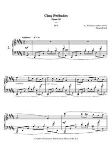 Five Preludes, Op.16: introdução No.1 by Alexander Scriabin