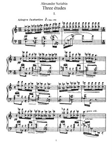 Three Etudes, Op.65: set completo by Alexander Scriabin