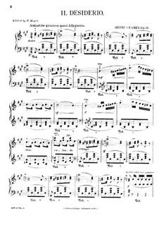 Il Desiderio (Le Désir), Op.14: Para Piano by Henri Cramer