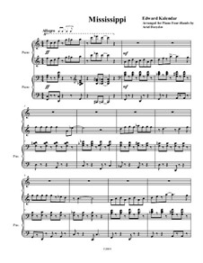 Mississippi: para piano de quadro mãos by Edward Kalendar