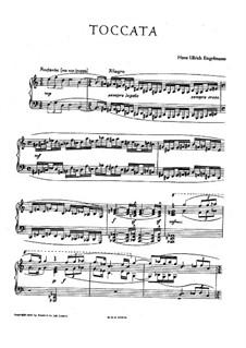 Toccata for Piano: Toccata para piano by Hans Engelmann