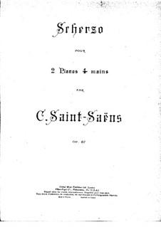 Scherzo, Op.87: para dois pianos de quatro mãos - piano parte I by Camille Saint-Saëns
