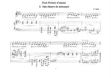 Trois poèmes d'amour: No.2 Suis chauve de naissance by Erik Satie