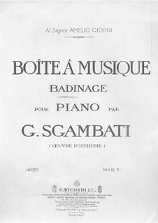 Boîte à musique: Boîte à musique by Giovanni Sgambati