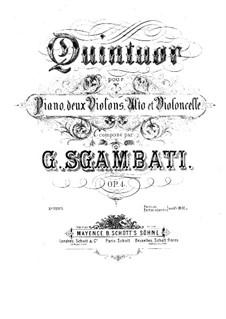 Piano Quintet No.1 in F Minor, Op.4: partitura completa by Giovanni Sgambati