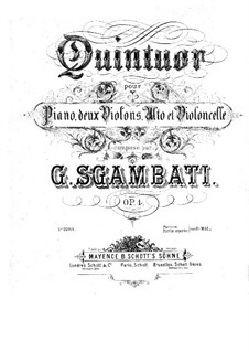 Piano Quintet No.1 in F Minor, Op.4: violino parte II by Giovanni Sgambati