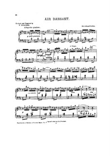 Four Bagatelles, Op.39: No.2 Air dansant by Philipp Scharwenka