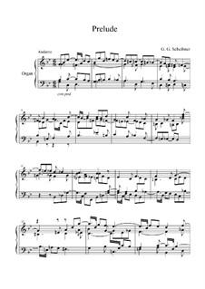 Prelude in G Minor for Organ: Prelude in G Minor for Organ by Georg Gottlieb Scheibner