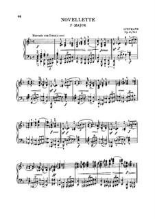 Eight Novelettes, Op.21: Novelette No.1 by Robert Schumann