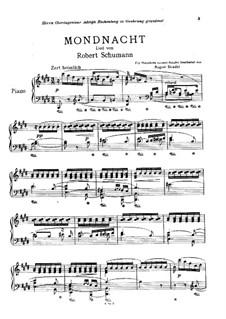 No.5 Mondnacht (Moonlight Night): Para Piano by Robert Schumann