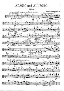 Adagio and Allegro, Op.70: Parte de solo by Robert Schumann