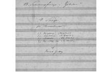 Four Songs for Male Choir, EG 160: Four Songs for Male Choir by Edvard Grieg