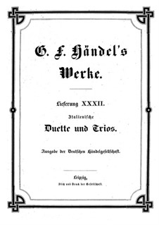 Italian Duets and Trios: livro I by Georg Friedrich Händel