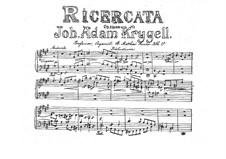 Ricercata, Op.22: Ricercata by Johan Adam Krygell