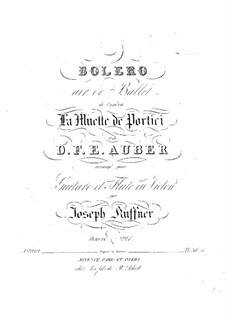 Bolero: For flute (or violin) and guitar by Daniel Auber