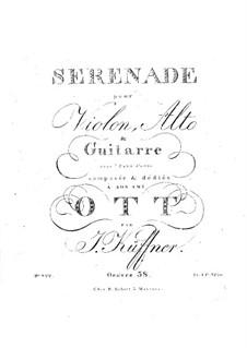 Serenade for Violin, Viola and Guitar, Op.38: serenata para violino, viola e guitarra by Joseph Küffner