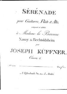 Serenade for Flute (or Violin), Viola and Guitar, Op.6: Partes by Joseph Küffner