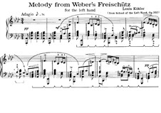 Fragments: Melody, for piano (left hand) by Carl Maria von Weber