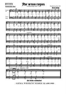 Three Motets, Op.2: No.1 Ave verum corpus, for choir by Edward Elgar