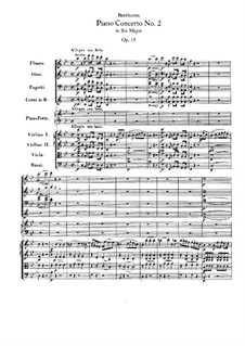 Concerto for Piano and Orchestra No.2, Op.19: Partitura completa by Ludwig van Beethoven