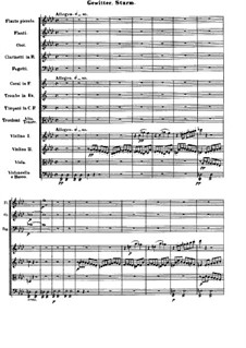 Movement IV. Thunderstorm, Storm: partitura completa by Ludwig van Beethoven