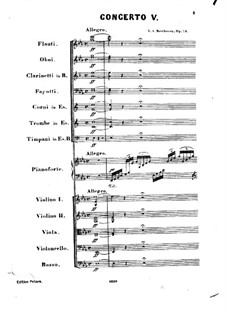 Complete Concerto: Partitura completa by Ludwig van Beethoven