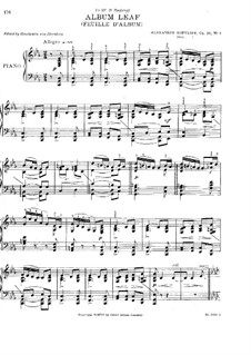 Three Album Leaves, Op.26: Album Leaf No.3 by Alexander Kopylov