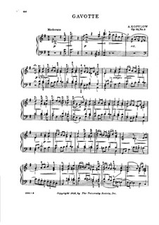 Tableaux musicaux de a vie enfantine, Op.52: No.3 Gavotte miniature by Alexander Kopylov