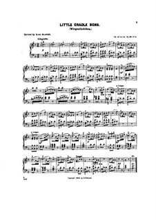 Scenes from Childhood, Op.62: No.5 Little cradle song by Theodor Kullak