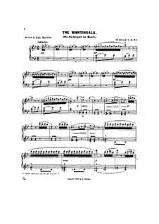 Scenes from Childhood, Op.81: No.8 The nightingale by Theodor Kullak