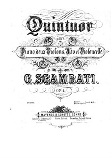Piano Quintet No.1 in F Minor, Op.4: parte violoncelo by Giovanni Sgambati