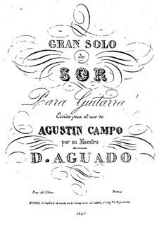 Gran Solo de Sor: Gran Solo de Sor by Dionisio Aguado