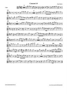 Canzon à 8: parte viola by Paul Siefert