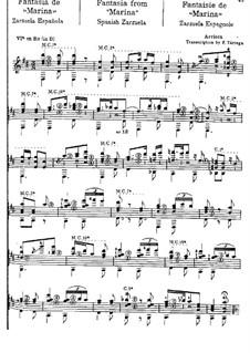 Fantasia on Themes from 'Marina' by E. Arrieta: Fantasia on Themes from 'Marina' by E. Arrieta by Francisco Tárrega