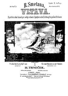 Vltava, T.111: dois pianos de quatro mãos by Bedřich Smetana