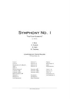 Symphony No.1: sinfonia No 1 by Chris Walden