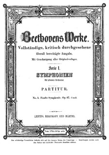 Complete Symphony: Partitura completa by Ludwig van Beethoven