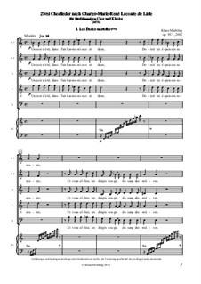 Zwei Chorlieder nach Charles-Marie-René Leconte de Lisle, Op.93: Zwei Chorlieder nach Charles-Marie-René Leconte de Lisle by Klaus Miehling