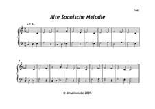 Alte spanische Melodie: Alte spanische Melodie by folklore