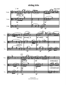 String trio: partitura completa by Chris Wind